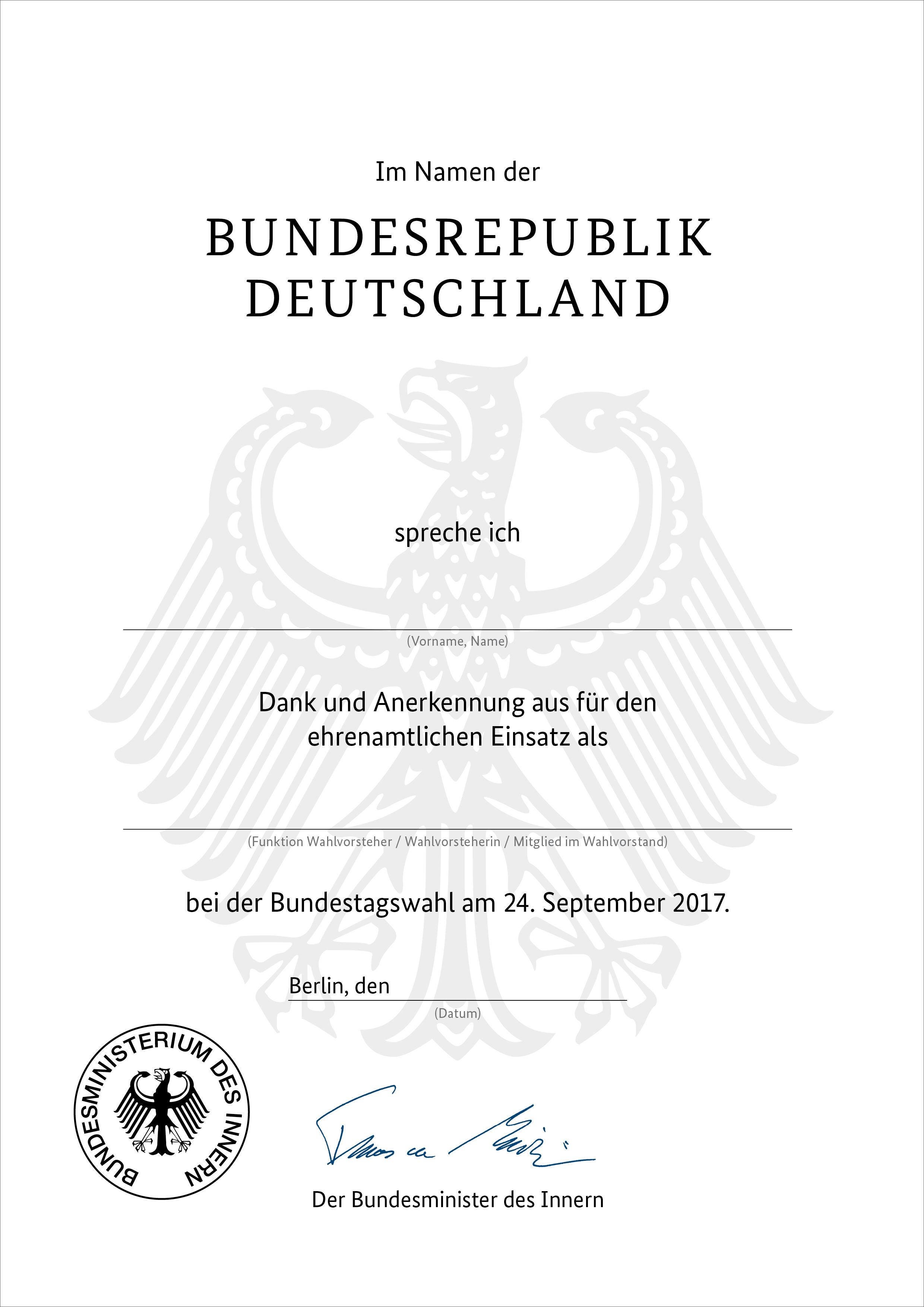 BMI - Alle Meldungen - Ohne Wahlhelfer keine unabhängigen Wahlen Bundesministerium F R Inneres Wahlen on