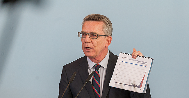 Federal Minister de Maizière presenting the forecast concerning the number of asylum applicants expected in 2015