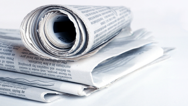 Stack of newspapers (refer to: Press Relations Division)