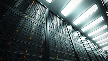 Picture of a server room (refer to: Federal IT)