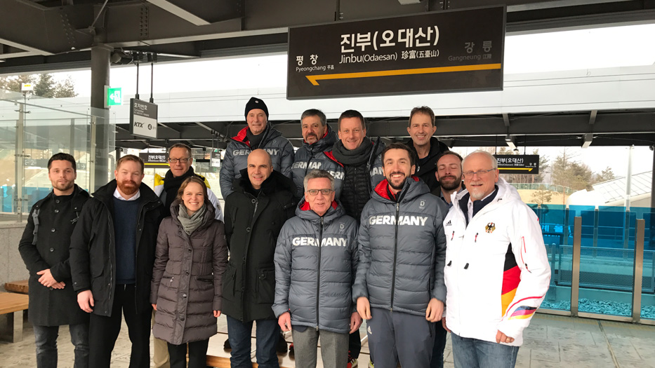 Federal Minister of the Interior Thomas de Maizière and his delegation in Pyeongchang